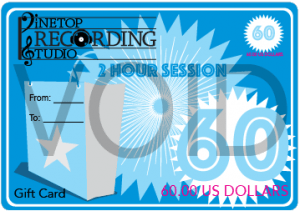 Gift Card Pinetop Recording Studio