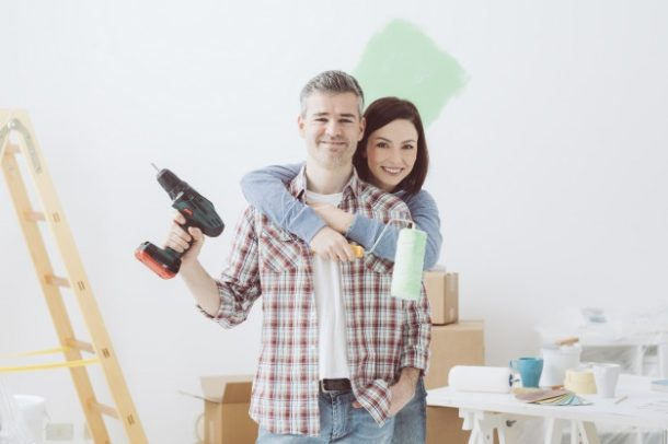 couple doing home renovations by Pinetree Financial Partners