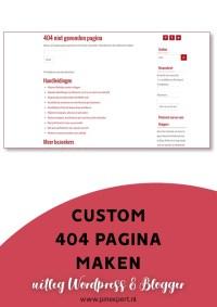 custom 404 pagina maken pinterest