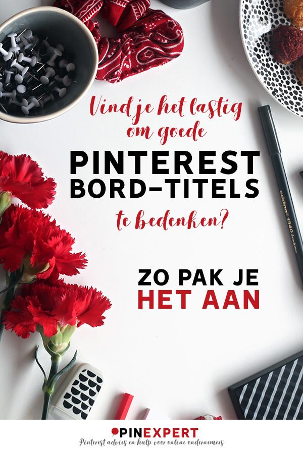 Pinterest bord titels pin