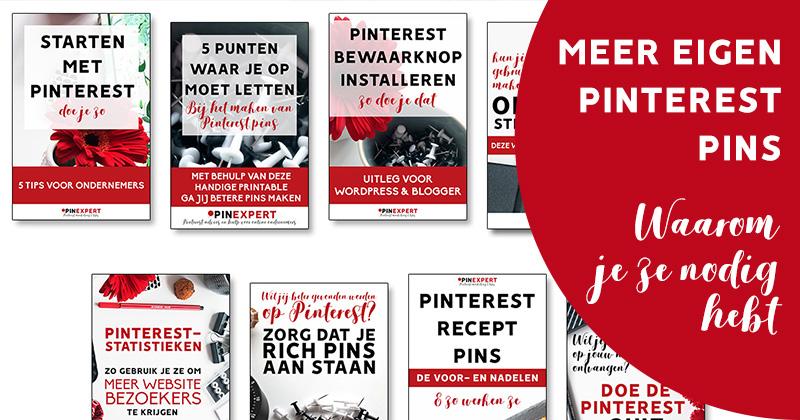 meer eigen Pinterest-pins