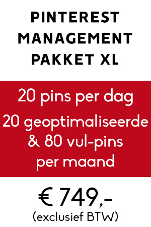 Pinterest management pakket xl