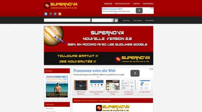 Découvrez un annuaire de référencement de qualité: www.supernova-annuaire.com.