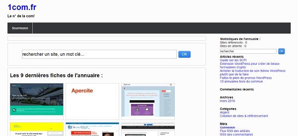 1com.fr est un annuaire d'articles