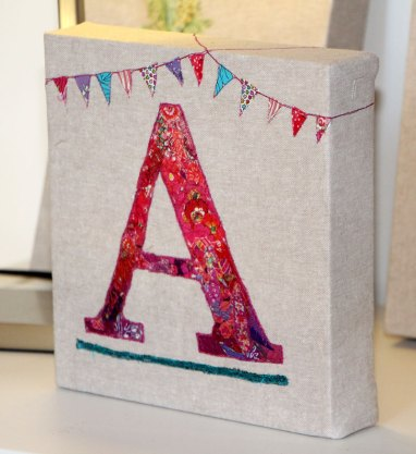 Embroidered Letter A
