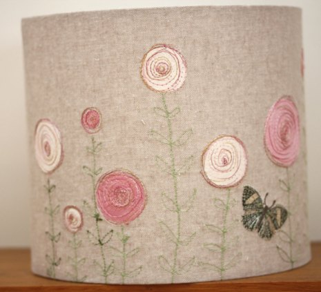 Pink Flower Lampshade