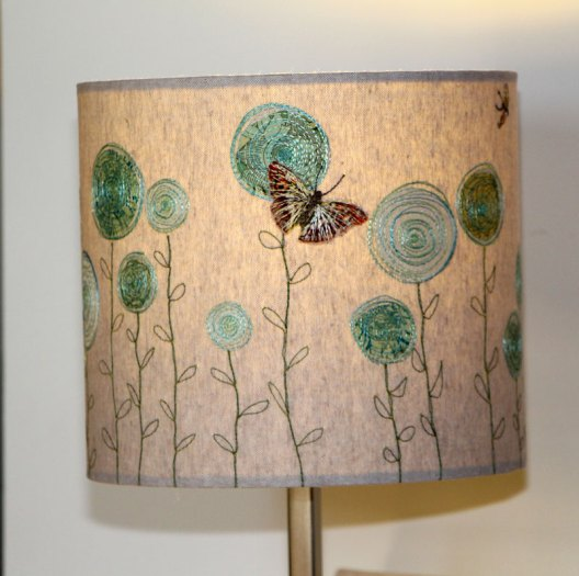Embroidered Lampshade