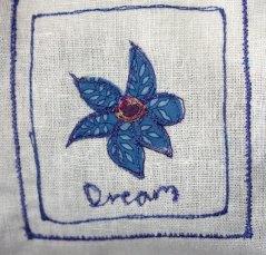 Embroidered Lavender bag