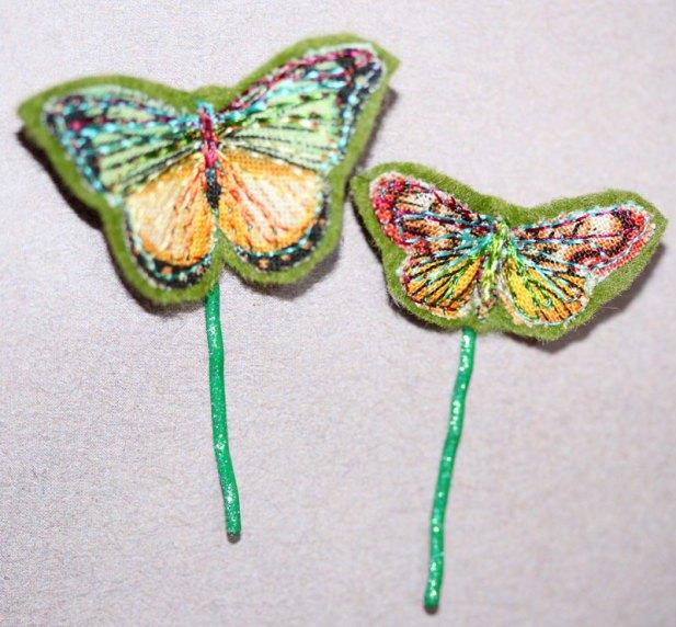 Green Butterfly Hair Clip