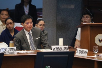 Sen. Ping Lacson at Senate hearing on corruption at Bilibid