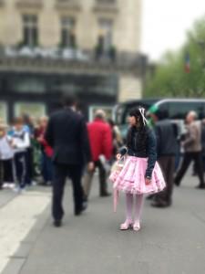 la vie en rose, fille en tutu à Opera