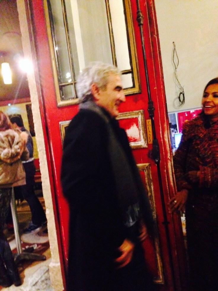 Raymond Domenech et Karine LeMarchand au Petit Theatre du Gymnase pour l'Appel de Londres