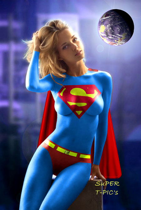 Supergirl bodypaint Thumbnail for 609604