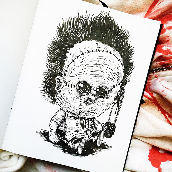 baby-terrors-iconic-horror-monsters-illustrations-alex-solis-15