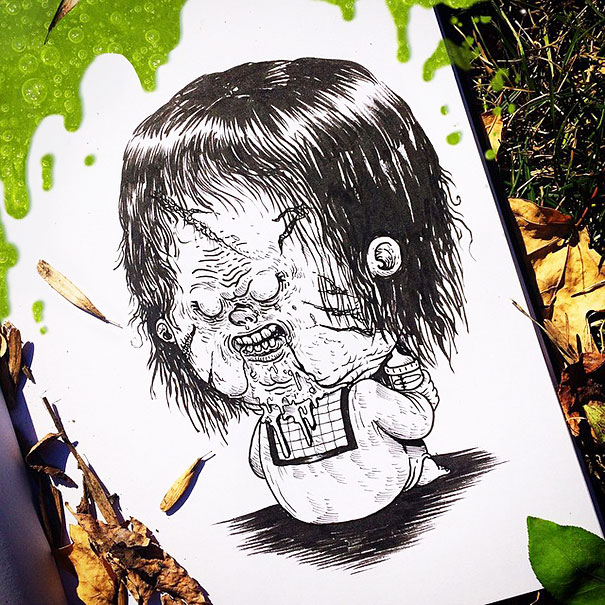 baby-terrors-iconic-horror-monsters-illustrations-alex-solis-27