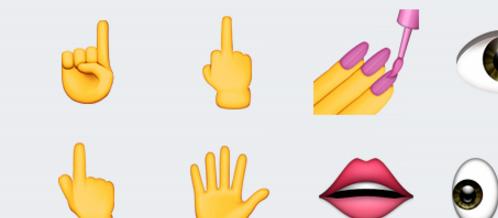 Moyen-doigt-emoji iOS 9.1-