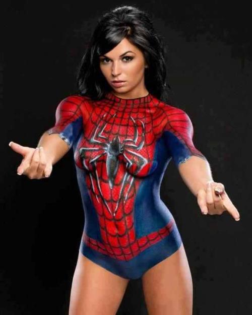 Spiderwoman Bodycombing