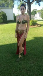 Cosplay Bikini Slave Leia (2)