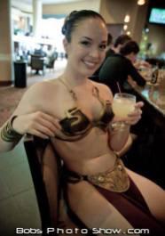 Cosplay Slave Leia Metal Bikini (9)