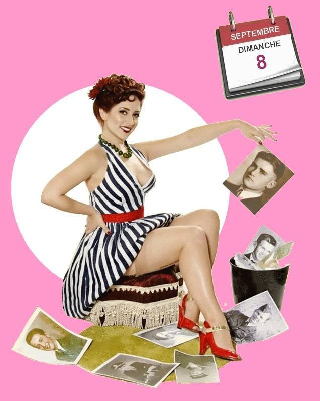 Pinup Of The Day : Effeuillage de Calendrier