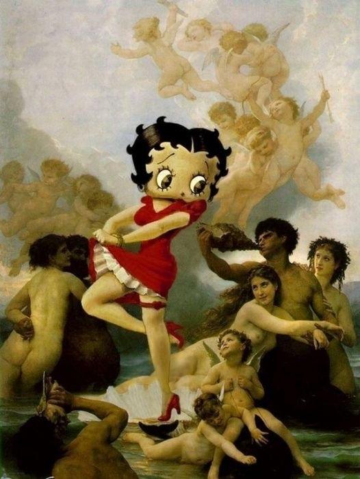 Герои мультфильмов в искусстве
