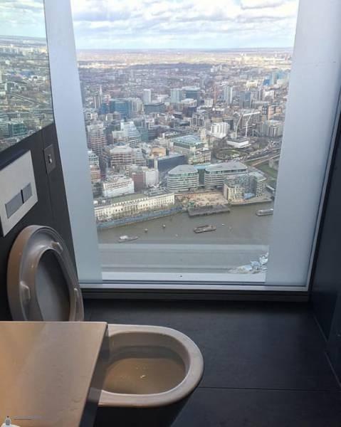 Toilettes avec Vue