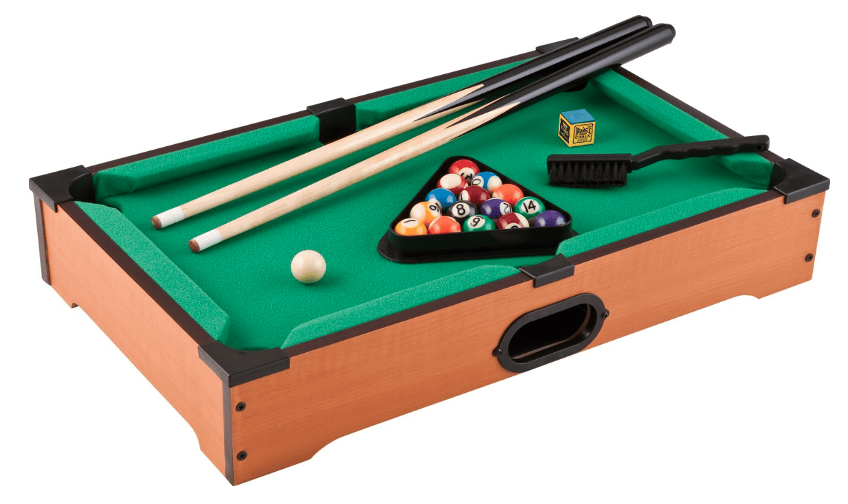 Mainstreet Classics 20-Inch Table Top Miniature Billiard/Pool Game Set Review