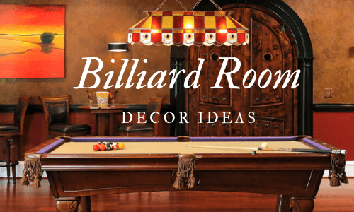Billiard/Pool Room Decor Ideas