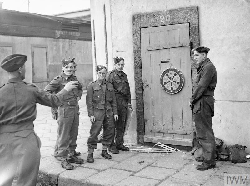 Soldiers Playing Darts
