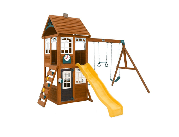 KidKraft McKinley Cedar Wood Swing Set