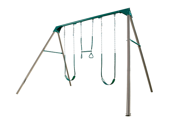 Lifetime Heavy-Duty A-Frame Metal Swing Set