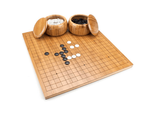 Brybelly Go Set With Reversible Bamboo Go Board