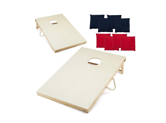 GSE Games & Sports Unfinished Cornhole Toss Game Set
