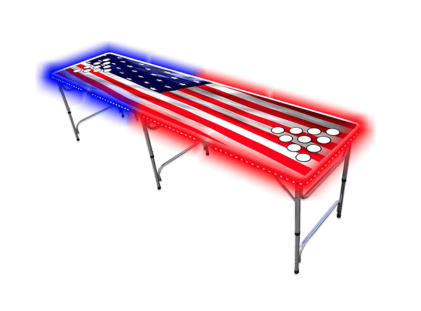 PartyPongTables.com 8 Foot Beer Pong Table With LED Lights