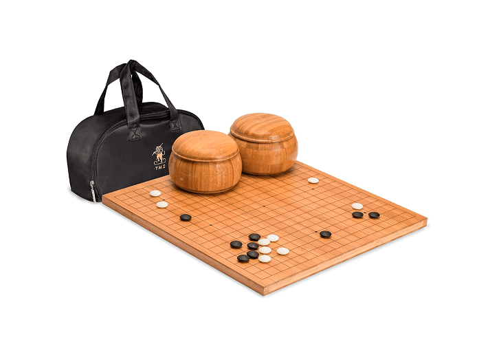 Yellow Mountain Imports Bamboo 0.8 Inch Etched Go Game Board Set