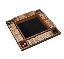 WE Games 4-Player Shut The Box Wooden Board Game