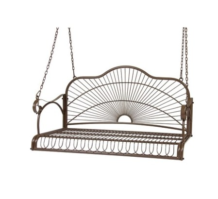 Best Choice Products Outdoor Hanging Iron Porch Swing