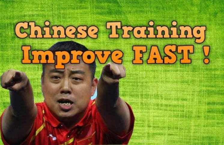 Improve fast with Chinese training in table tennis