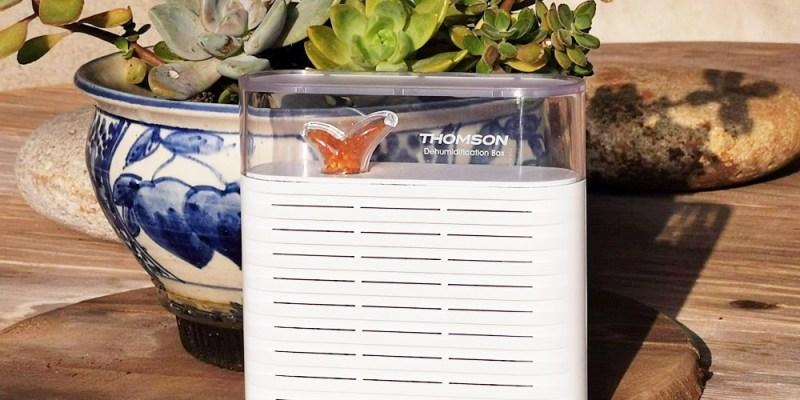居家好物 THOMSON 日系微風小草無線除濕盒 仿生設計 療癒又實用