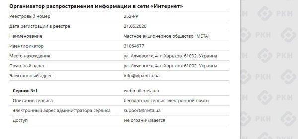 Український сервіс електронної пошти МЕТА передає дані російським спецслужбам