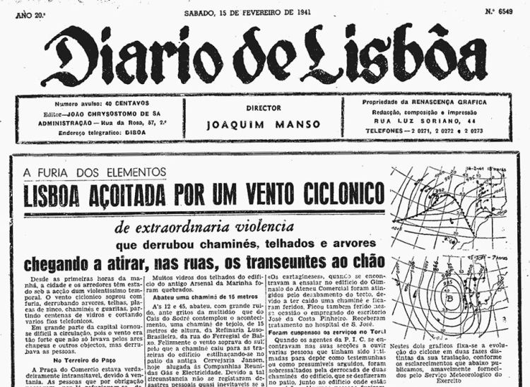 Notícias Ciclone de 1941