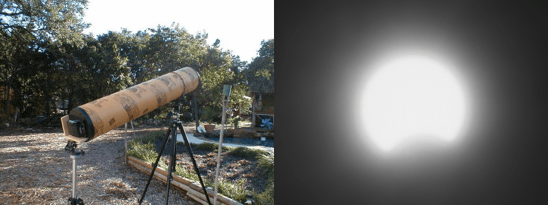 Pinhole Telescope and 2002 Partial Solar Eclipse