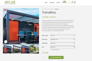 Onlineshop Terrassendach planen