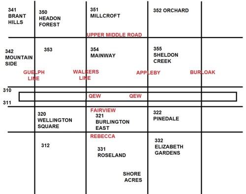Burlington Map Codes