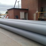 Pylons for busselton jetty, coated with 1000microns of interzone 1000