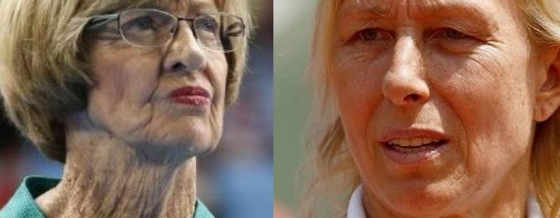 Photo: Margaret Court | Martina Navratilova.
