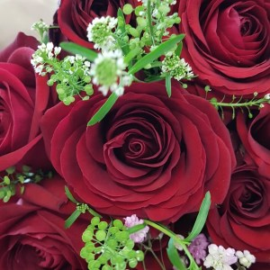 LIMITED STOCK PLEASE TELEPHONE TO PLACE ORDER – LUXURY RED ROSE BOUQUET