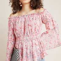 Pleated Off-The-Shoulder Blouse – Anthropologie