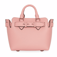 Burberry Baby Belt-Trim Leather Satchel