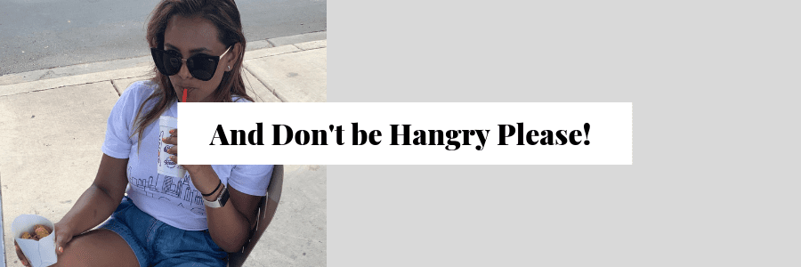 And Don't be Hangry Please!
